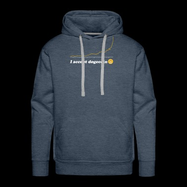 I Accept Dogecoin- Blockchain HODL Cryptocurrency - Men's Premium Hoodie