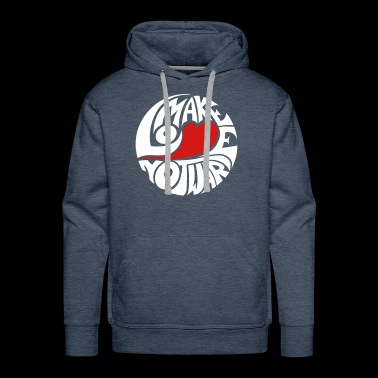 Make Love, Not War - 60s Flower Power - Men's Premium Hoodie