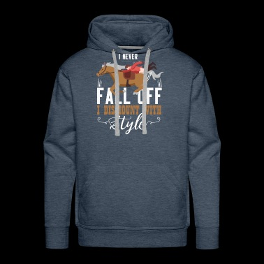 I Never Fall Off I Dismount With Style Gift - Men's Premium Hoodie
