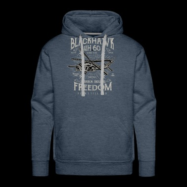 Black Hawk Strike World War Military Freedom Fight - Men's Premium Hoodie