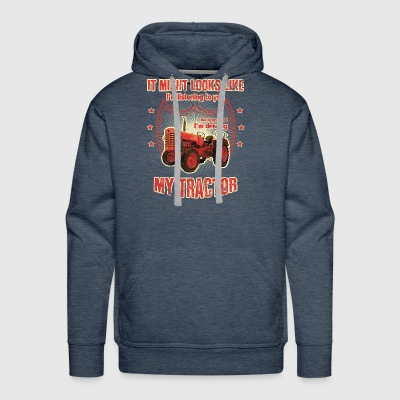 It might looks like listening driving TRACTOR red - Men's Premium Hoodie