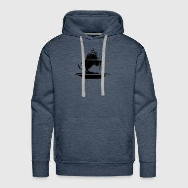 Coffee Cup - Forest Birds Gift - Men's Premium Hoodie