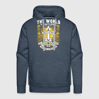 GOD IS MY WEAPON BIBLE IS MY AMMO -CHRISTIAN SHIRT - Men's Premium Hoodie