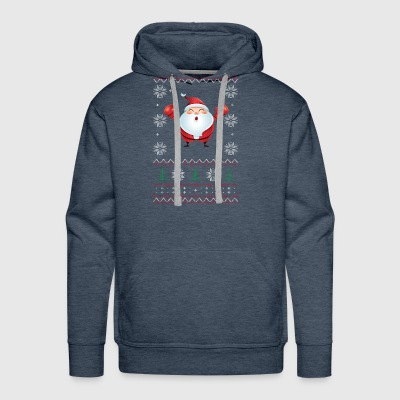 BOXING Ugly Sweater For Christmas BOxMAS I - Men's Premium Hoodie