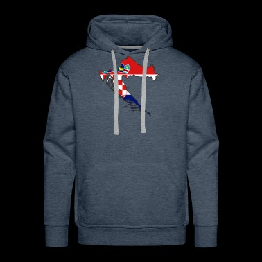 flag Croatia map Hrvatska - Men's Premium Hoodie