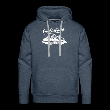 Go Outside the Great outdoors - Men's Premium Hoodie