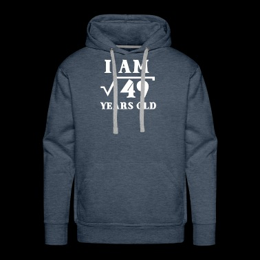 I Am Root 49 7 Years Old Math Tee Shirts Gifts - Men's Premium Hoodie