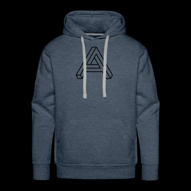 BLACK IMPOSSIBLE A - Men's Premium Hoodie