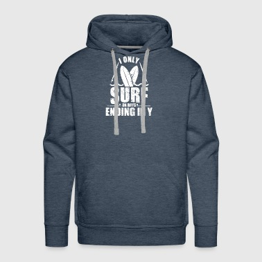 I ONLY SURF: SURFING SURFER SURFBUS SURFIN - Men's Premium Hoodie