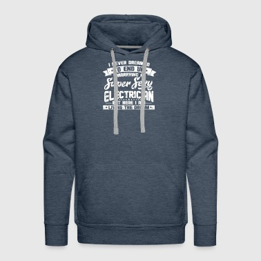 SUPER SEXY ELECTRICIAN: ELECTRICITY LIGHTBULB - Men's Premium Hoodie
