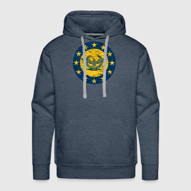 Roman Standard and the EU Flag - Men's Premium Hoodie