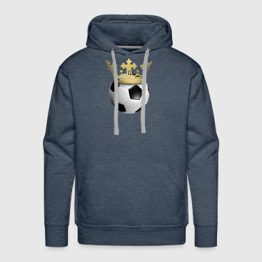 Soccer is king (crown) - Men's Premium Hoodie