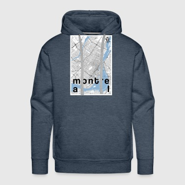 Montreal hipster city map black/white - Men's Premium Hoodie