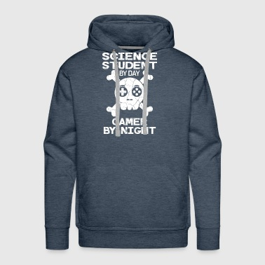 Science Student By Day Gamer By Night Gift - Men's Premium Hoodie