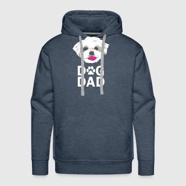 Dog Dad Maltese Funny Fathers Day - Men's Premium Hoodie