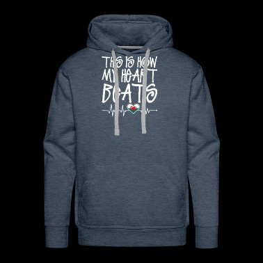 Welsh Heart Beats - Men's Premium Hoodie