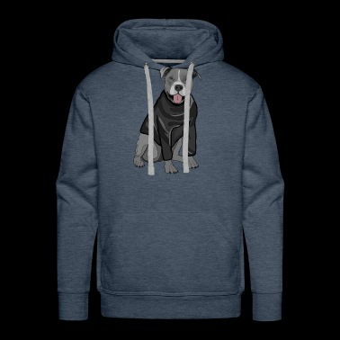 Sweet dog sweater dogs lover gift idea stafford - Men's Premium Hoodie