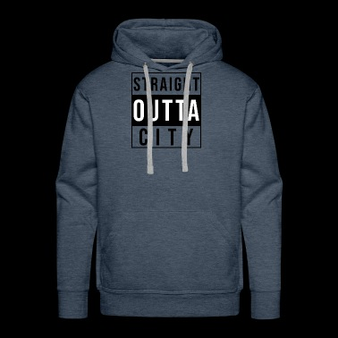 Straight Outta City black - Men's Premium Hoodie