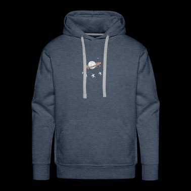 astronaut go around - Men's Premium Hoodie
