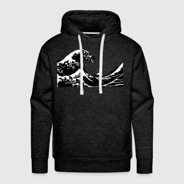 Wave Sea Tsnumai Flood - Men's Premium Hoodie