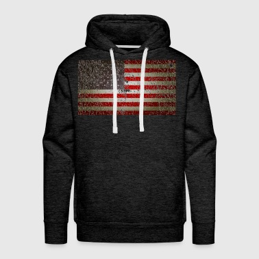 US Flag distressed - Men's Premium Hoodie