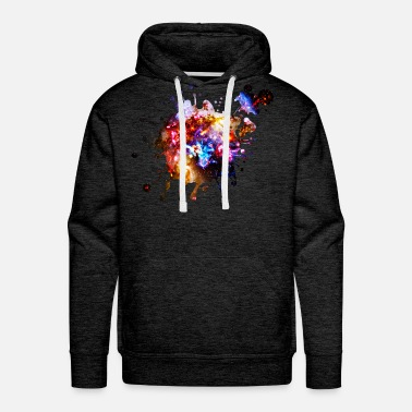 Cosmos Colorful Cosmos - Men's Premium Hoodie