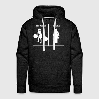 crossfit wife - Men's Premium Hoodie