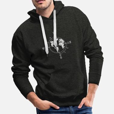 Gypsy Time elements / gift, compass, world, travel - Men's Premium Hoodie