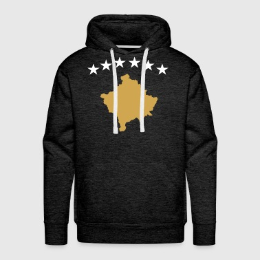 Kosovo Flag Outline - Men's Premium Hoodie