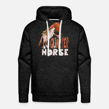 Western Horse Red Roan Quarter Horse - Gift - Western - Riding - Men's Premium Hoodie