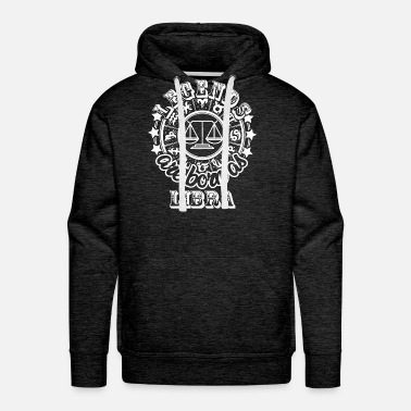Libra Legends are born as Libra white - Men's Premium Hoodie