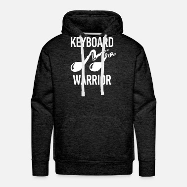 Piano Keyboard Warrior Geschenk Klavier Piano - Men's Premium Hoodie