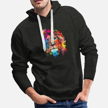 Contact Adorable Lion King - Men's Premium Hoodie