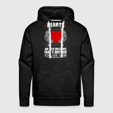 Hearts Ribs Are Cages - Men's Premium Hoodie