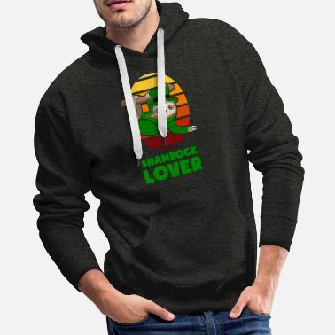 Lucky Charm St Patricks Day Shamrock Lover Sloth gift - Men's Premium Hoodie