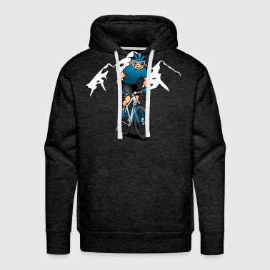 MTB - Mountain biker in the mountains - Men's Premium Hoodie