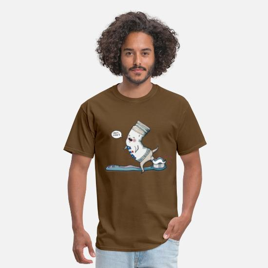 Funny T-Shirts - Open Wide - Men's T-Shirt brown