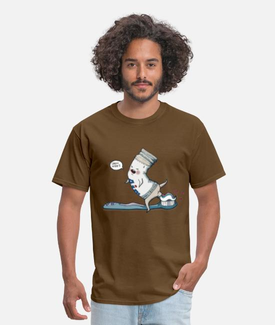 Design T-Shirts - Open Wide - Men's T-Shirt brown