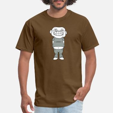 Ugly Boy obese increasing overweight diet man ugly boy fat - Men's T-Shirt