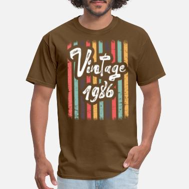 Birthday 1986 Vintage 1986 Cute Birthday Women Gift 33 th Birthd - Men's T-Shirt