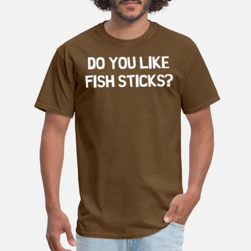 73c080e4b Clothes, Shoes & Accessories Do you like fishsticks South Park Funny Black  T-shirt New Shirts ...