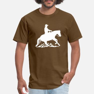 Slide Stop Cowboy - Western Riding Sliding Stop - Men's T-Shirt