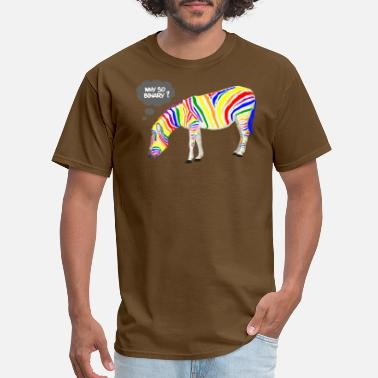 Gay Pride Rainbow Zebra - Men's T-Shirt