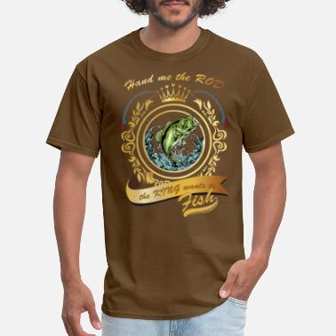 Fishing King Crown - Men's T-Shirt