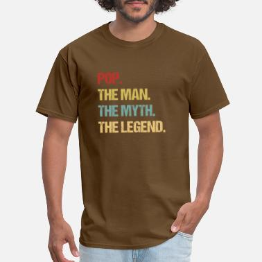 Pop Mens Pop The Man The Myth The Legend design - Men's T-Shirt
