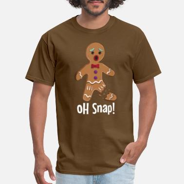 Oh Gingerbread Man - Oh Snap Funny Cute Christmas - Men's T-Shirt