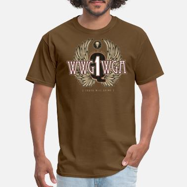 Qanon Q1 Wings WWG1WGA - Men's T-Shirt