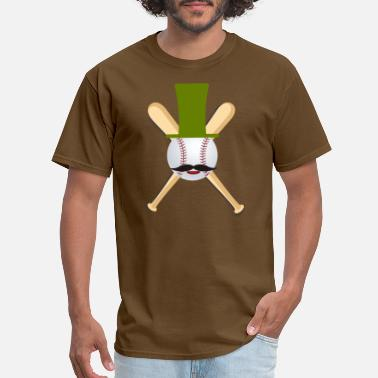 Baseball-hat Hipster Baseball Fan - Baseball Bat, balls & Hat - Men's T-Shirt