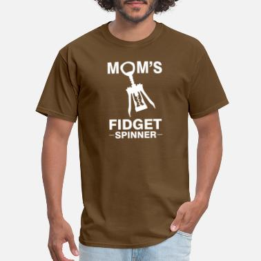 Moms Fidget Spinner Funny Wine Mom Fidget Spinner Screwpull Lever - Men's T-Shirt