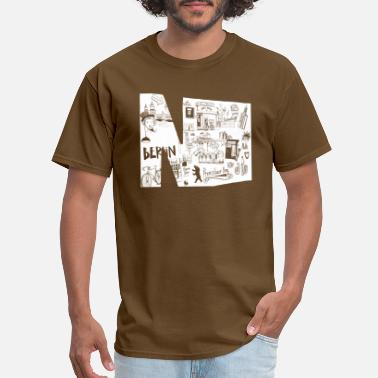 Prenzlauer Berg Letter N graffiti white - Men's T-Shirt